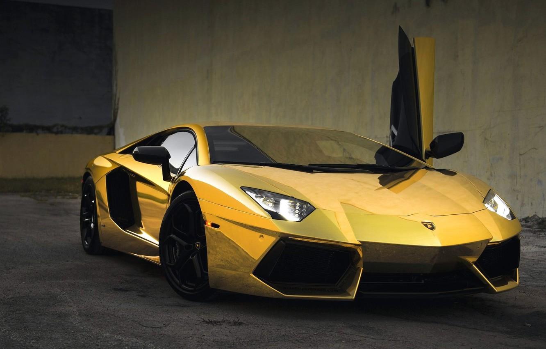 Photo wallpaper Machine, Car, Car, Beautiful, Voitur, Wallpapers, Lamborghini, Beautiful, Aventador, Aventador, Picture, Gold, Wallpaper, Automobiles, Gold