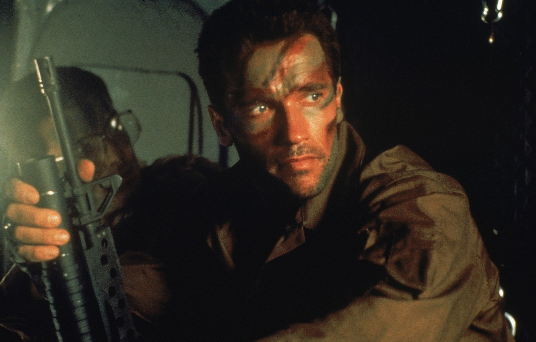 Photo wallpaper machine, Predator, Predator, Arnold Schwarzenegger, Arnold Schwarzenegger, Dutch