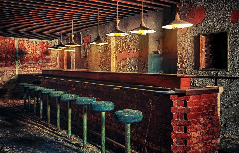 Photo wallpaper background, interior, bar