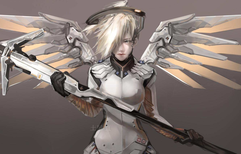 Photo wallpaper Game, Blizzard Entertainment, Overwatch, Mercy
