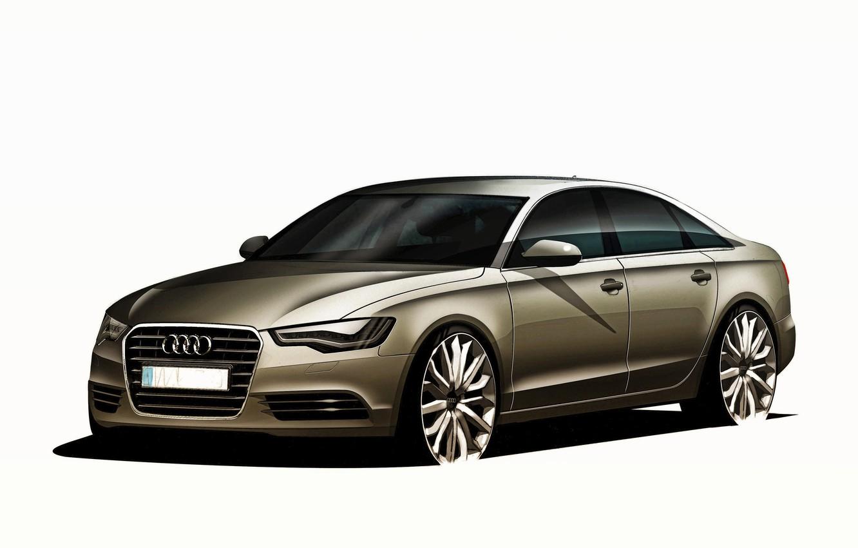 Photo wallpaper Audi, Audi, white background, sedan
