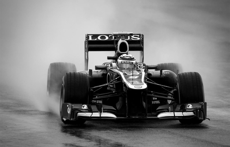 Photo wallpaper b/W, formula 1, 2012, Lotus, formula 1, Raikkonen, lotus, kimi raikkonen also, Kimi Raikkonen, raikkonen …