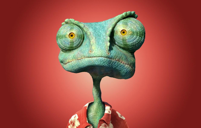 Photo wallpaper chameleon, Wallpaper, Rango