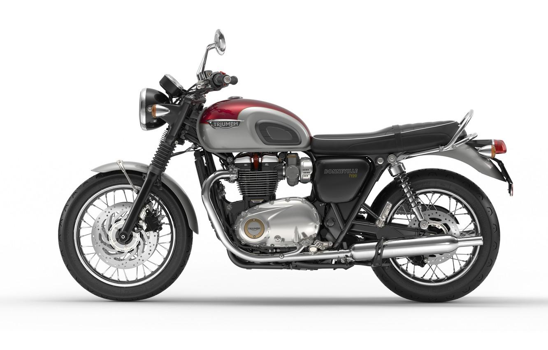 Photo wallpaper motorcycle, triumph, bonneville 2016