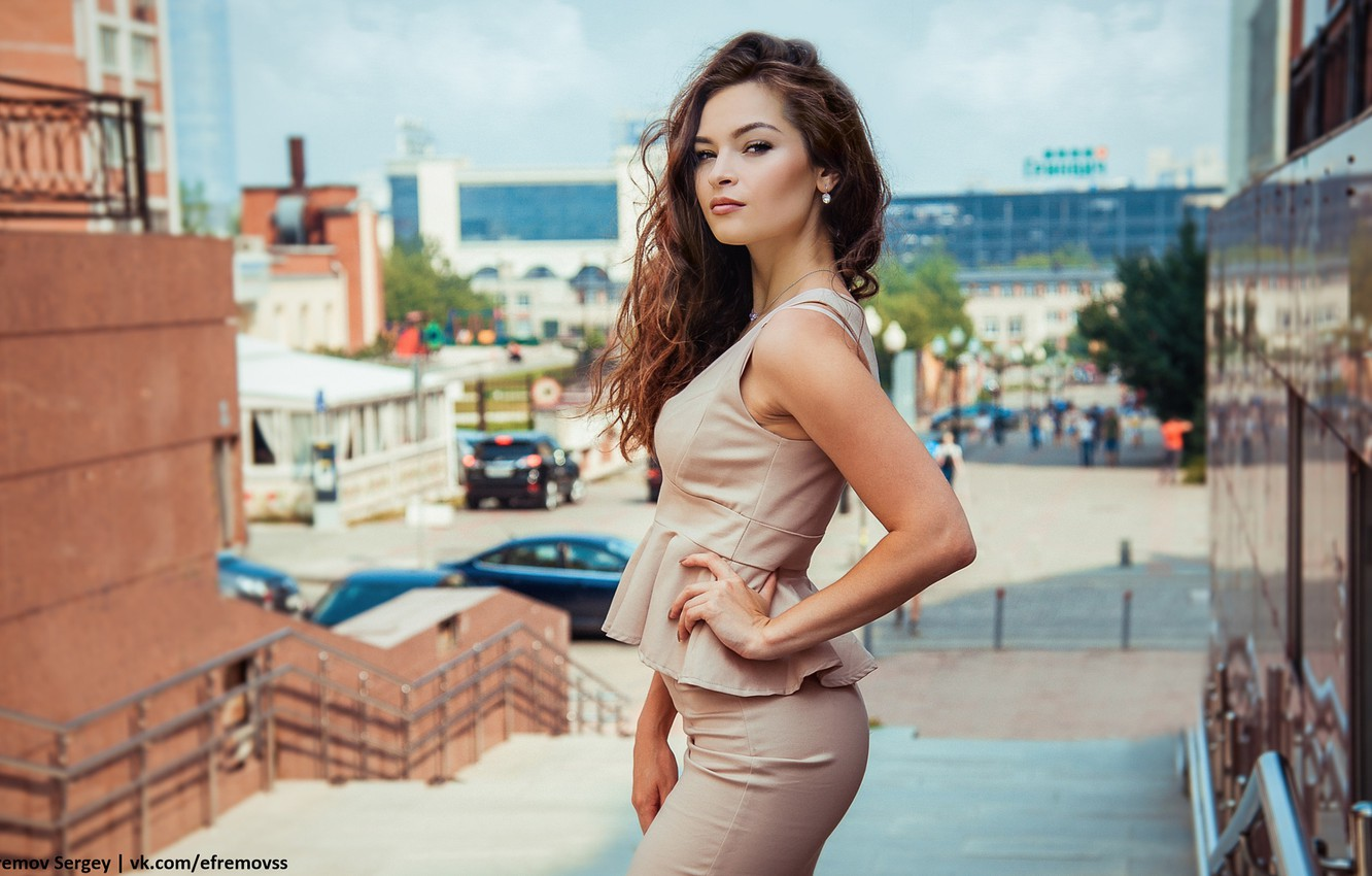 Photo wallpaper girl, the city, style, costume