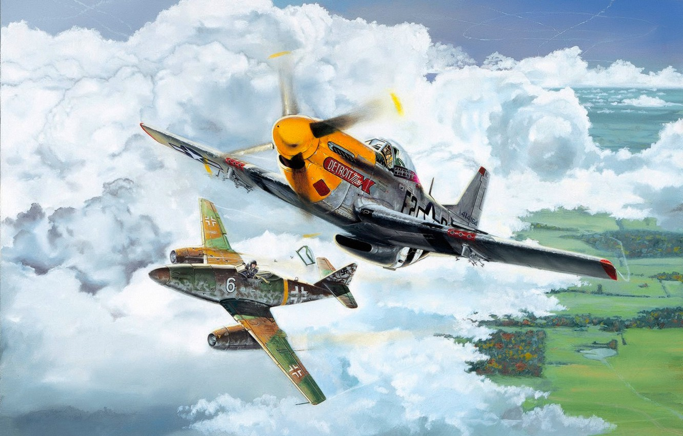 Wallpaper War Art Airplane American Painting Aviation Jet