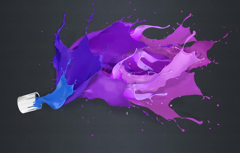 Photo wallpaper color, background, paint, splash