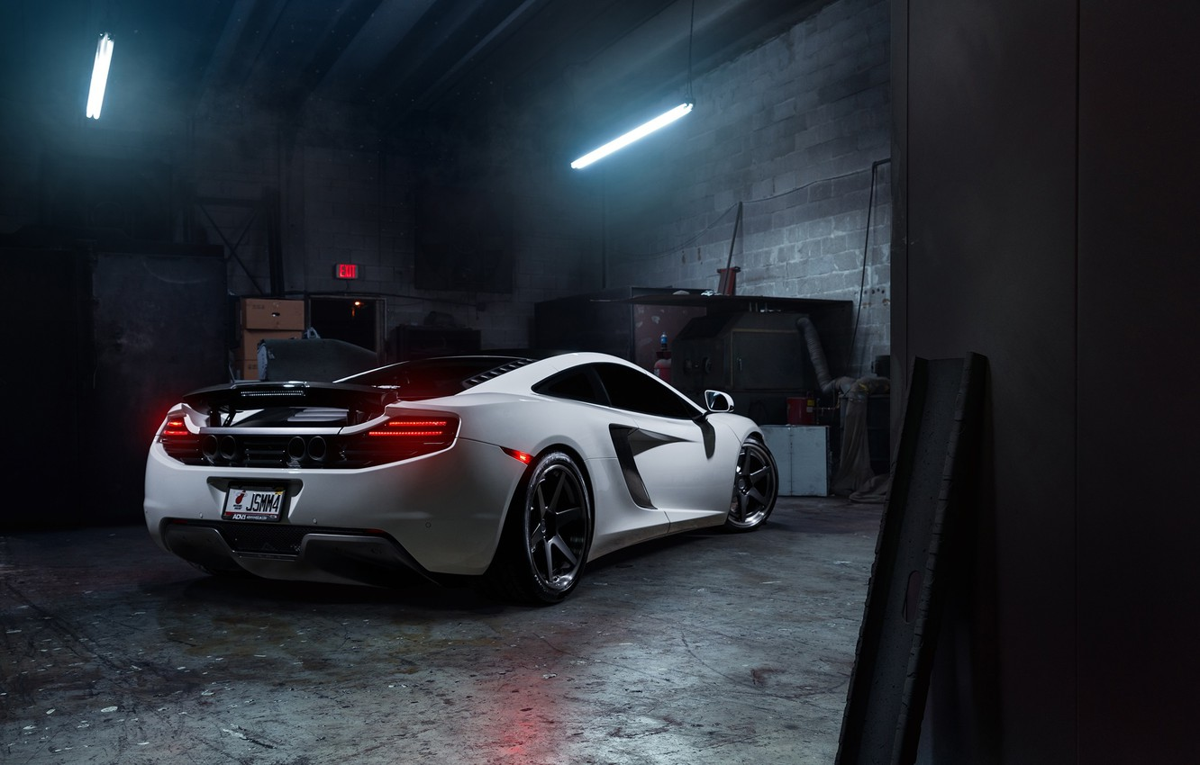 Photo wallpaper McLaren, MP4-12C, Tuning, Supercars, Wheels, Rear, ADV.1, Ligth, ADV6 TS