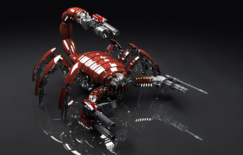 Photo wallpaper weapons, mechanism, Scorpio