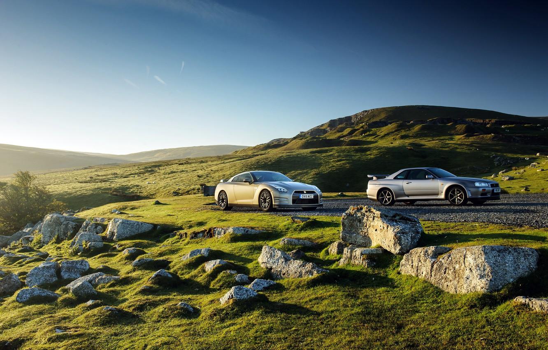 Photo wallpaper Nissan, GT-R, Nissan, R35, UK-spec, 2015, 45th Anniversary