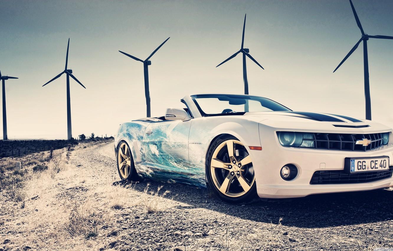 Photo wallpaper Chevrolet, Cool, White, Supercar, Fast car