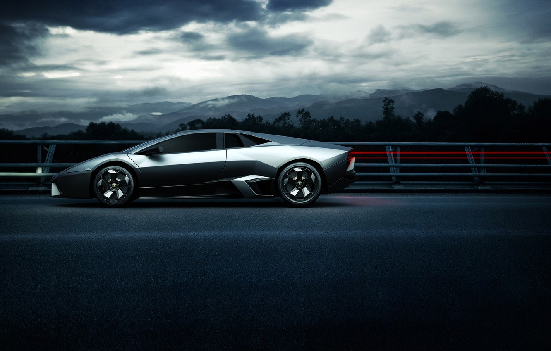Photo wallpaper auto, Lamborghini Sport Side Angle