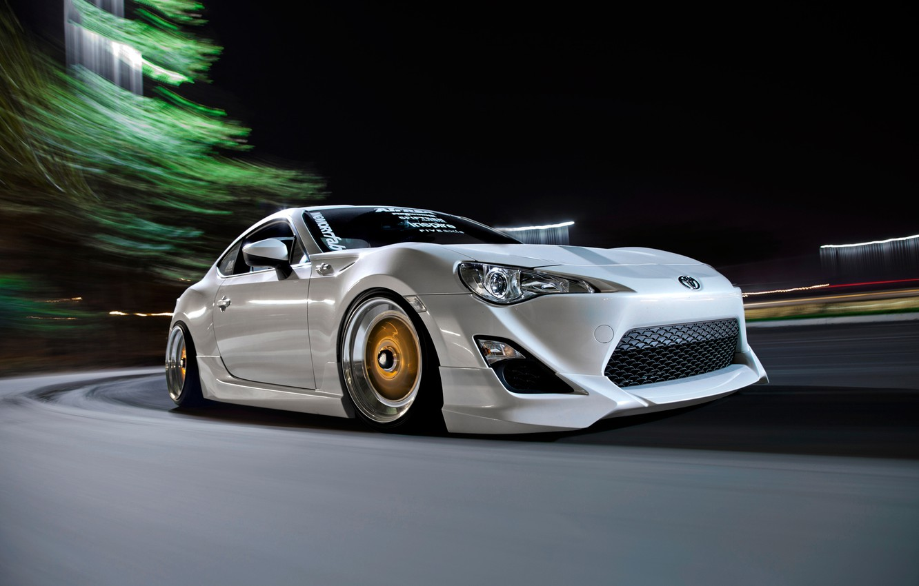 Photo wallpaper tuning, in motion, Toyota, toyota gt86