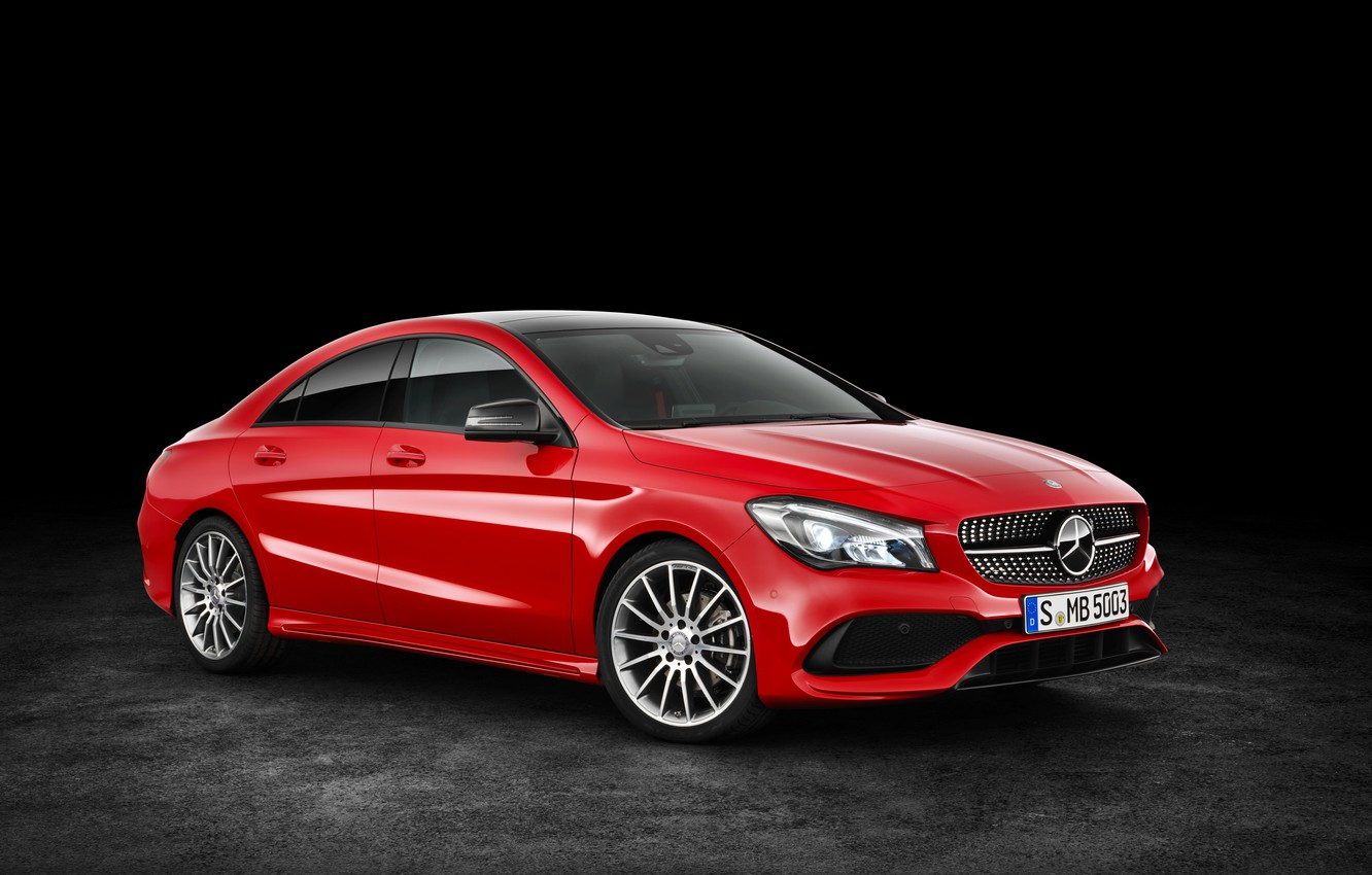 Photo wallpaper red, background, Mercedes-Benz, Mercedes, AMG, C117, CLA-Class
