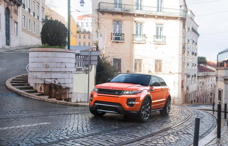 Photo wallpaper Orange, Orange, SUV, Evoque, Rover, Range