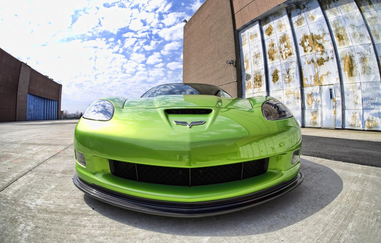 Photo wallpaper Corvette, Chevrolet, Green