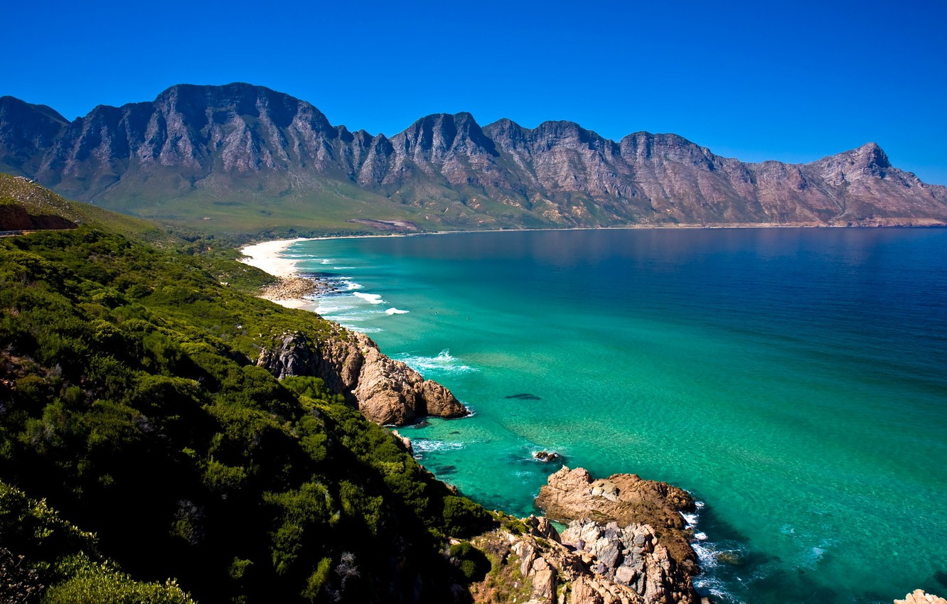 Wallpaper Sea Forest Shore Coast Mountain Africa South