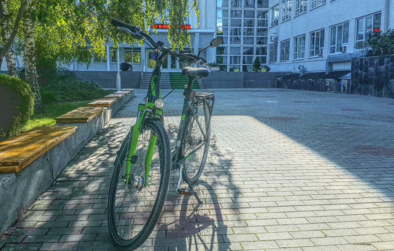 Photo wallpaper autumn, the city, walk, Bike, KTM, Anapa