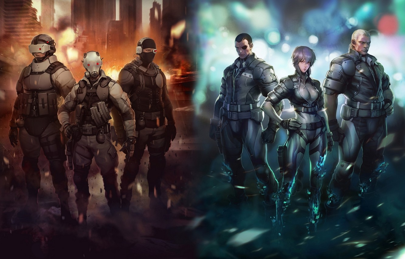 Wallpaper Ghost In The Shell Saito Ghost In The Shell Motoko Batou Bateau Saito Motoko Images For Desktop Section Sejnen Download