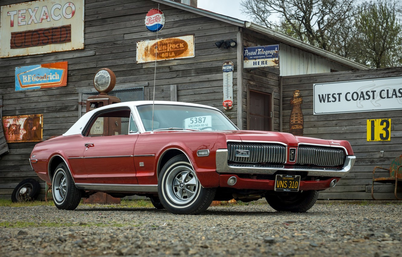 Photo wallpaper Cougar, the front, 1968, Mercury, XR-7