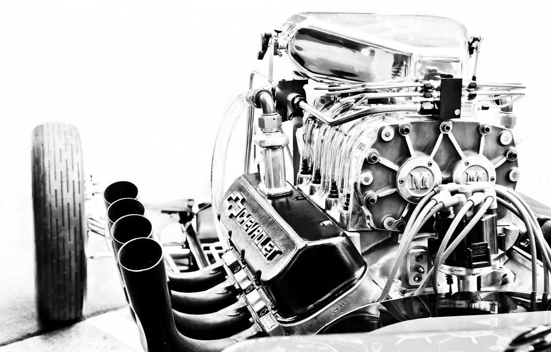 Photo wallpaper engine, Corvette, Chevrolet, engine, motor
