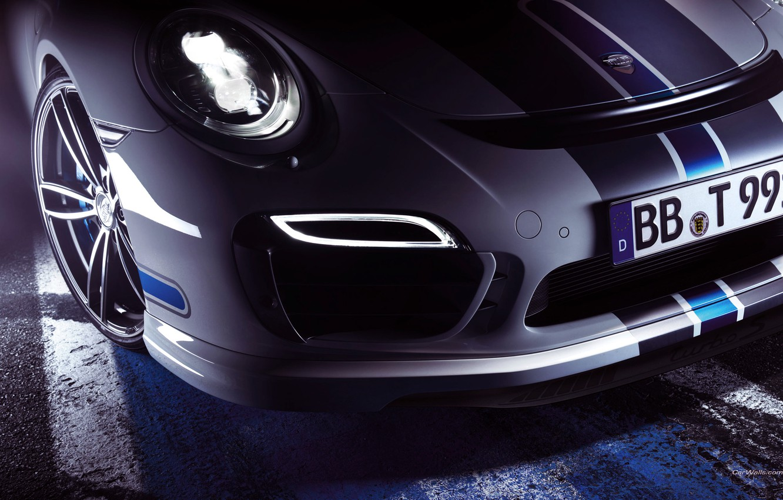 Photo wallpaper Auto, White, Headlight, 911, Porsche, Disk, Machine, Wheel, Logo, The hood, Turbo, The front, Sports …