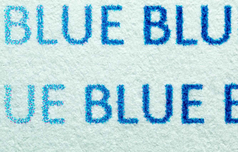 Photo wallpaper Blue, Macro, Print