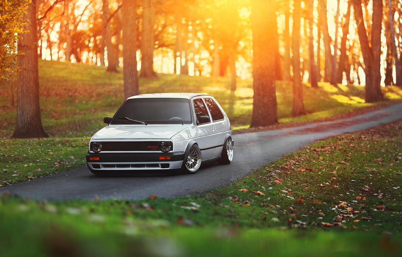 Photo wallpaper car, volkswagen, golf, tuning, gti, stance