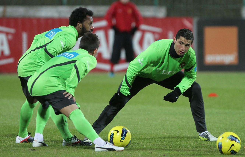 Photo wallpaper Cristiano Ronaldo, training, Portugal