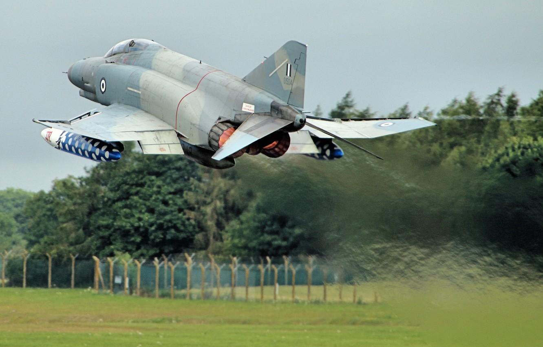 Photo wallpaper fighter, the rise, multipurpose, Phantom II, F-4E, Phantom II