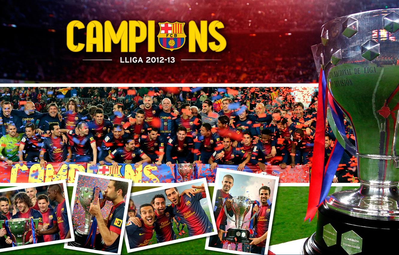 Photo wallpaper FC Barcelona, Champions, La Liga