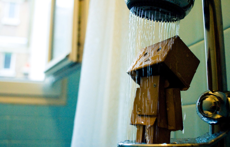 Photo wallpaper robot, shower, Danbo, robot
