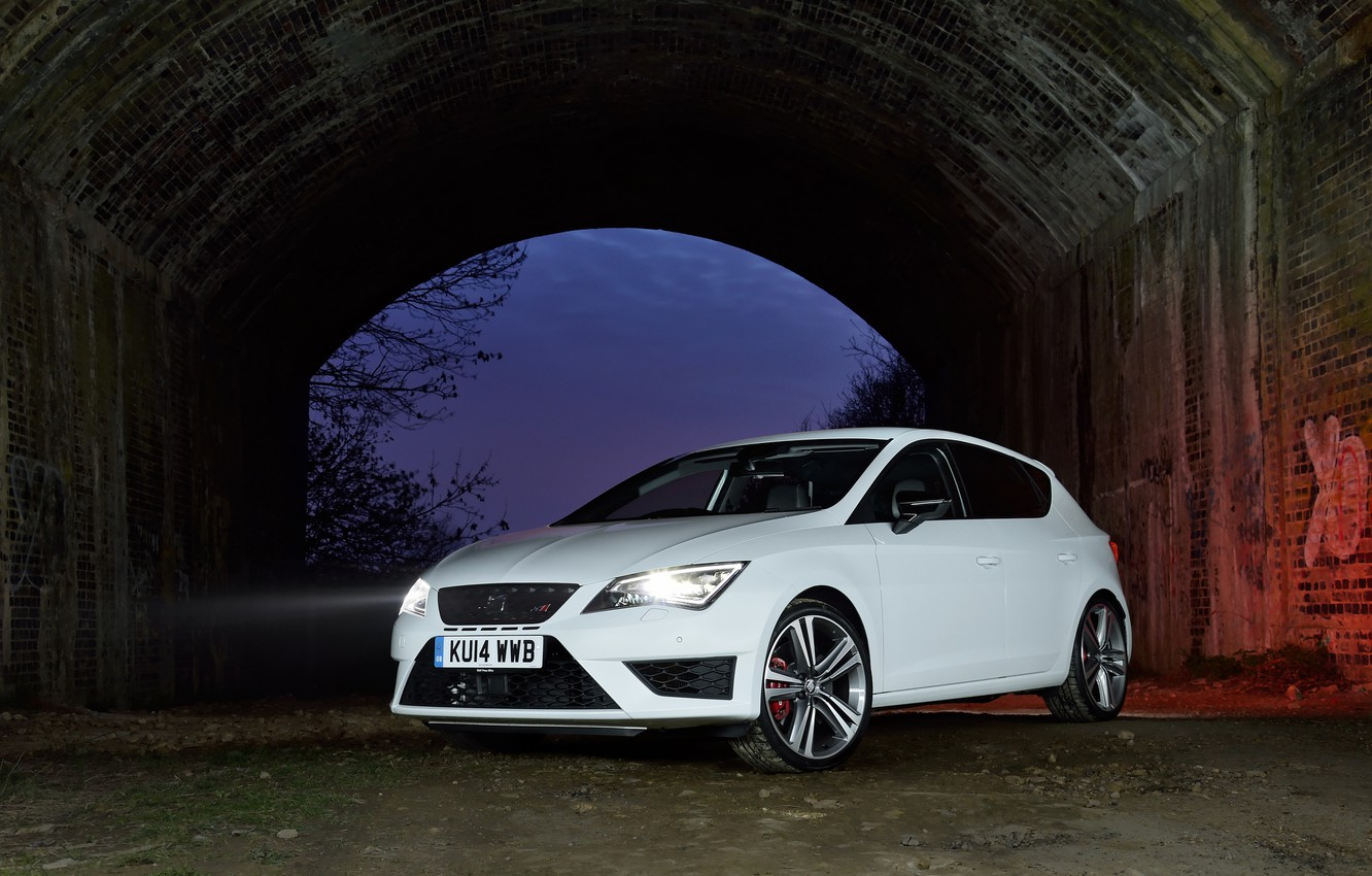 Photo wallpaper White, Leon, 280, SEAT, Cupra