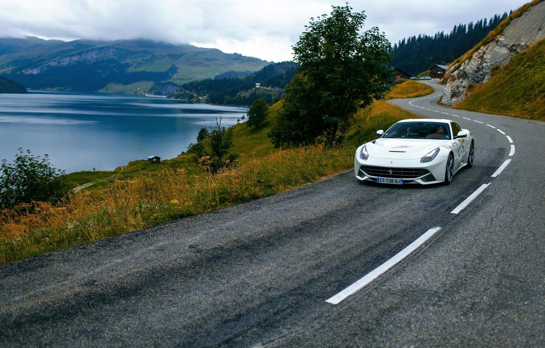 Photo wallpaper road, Ferrari, Ferrari, France, France, Berinetta