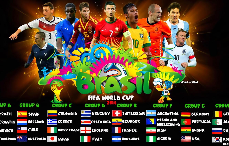 Wallpaper Football Fifa World Cup Group Brazil World Cup