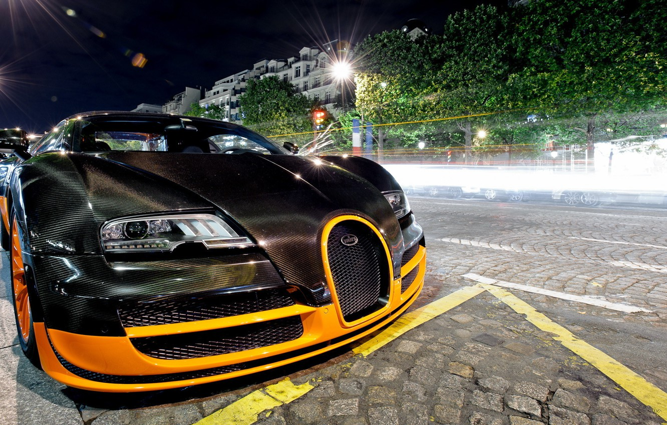 Photo wallpaper black, tuning, veyron, bugatti, Bugatti, Veyron, hypercar