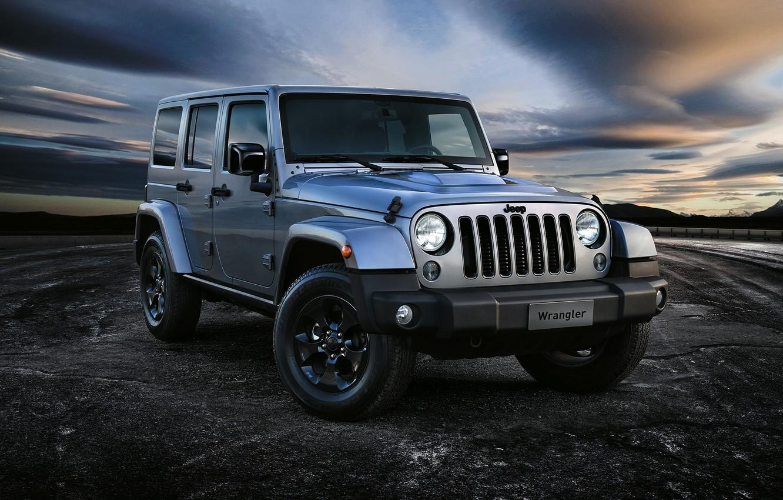 Photo wallpaper jeep, Wrangler, Jeep, Unlimited, 2015, Wrangler, Black Edition II