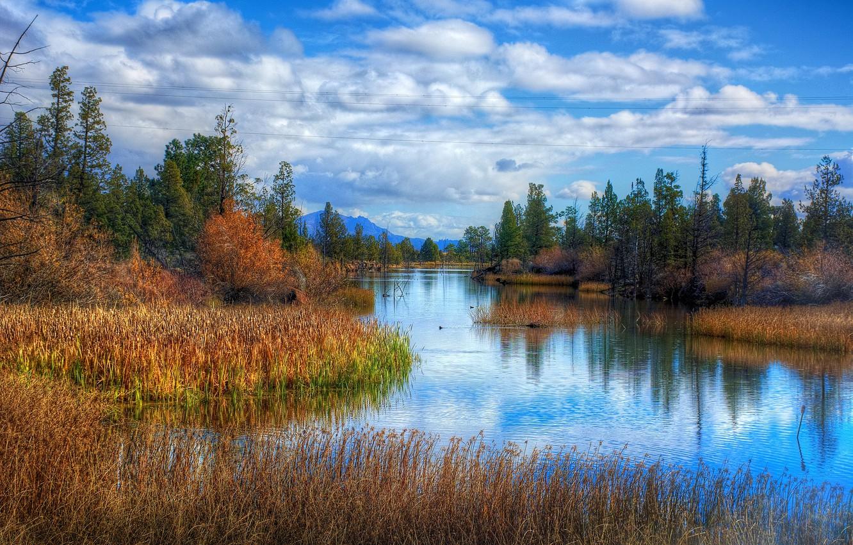 Photo wallpaper photo, The sky, Nature, River, Landscape