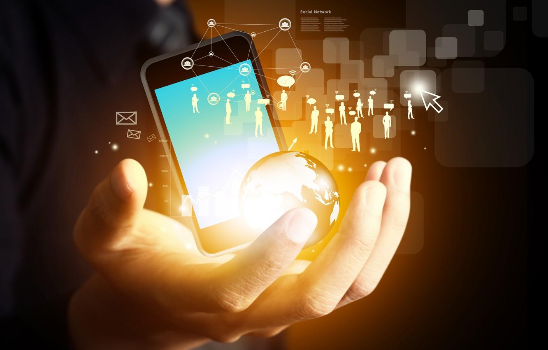 Photo wallpaper Internet, hi-tech, social network