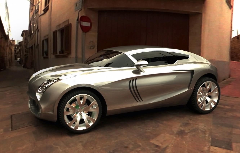 Photo wallpaper grey, silver, the concept, crossover, Maserati Kubang