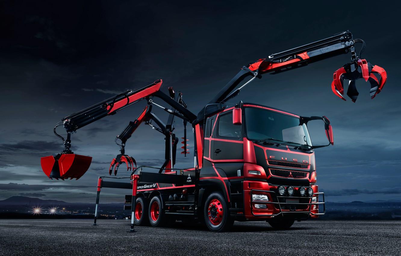 Photo wallpaper Concept, truck, Mitsubishi, Time, machinery