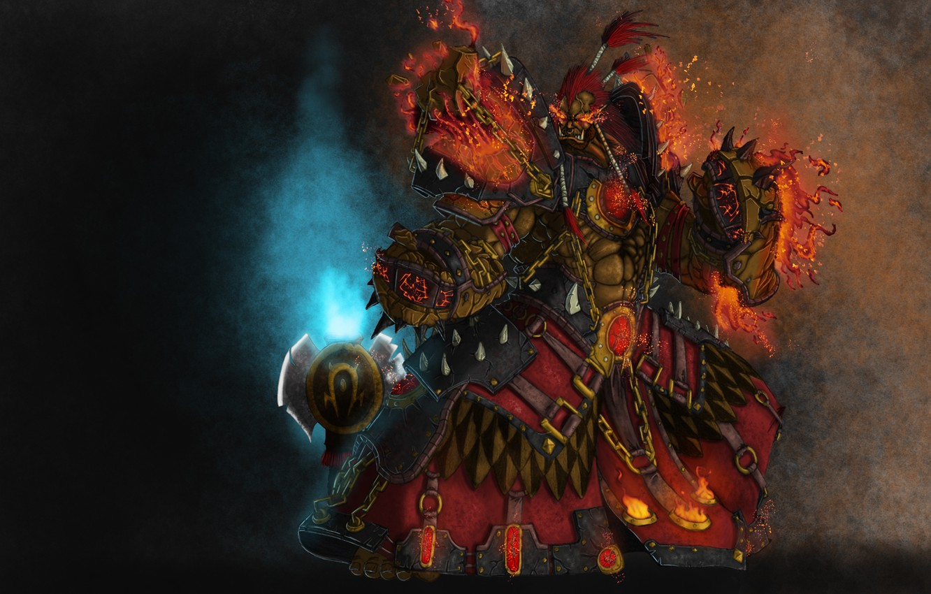 Wallpaper Armor Orc Wow Horde World Of Warcraft Shaman