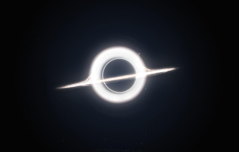 Photo wallpaper light, black, circle