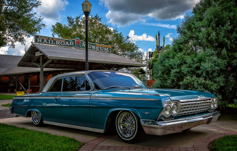 Photo wallpaper retro, Chevrolet, classic, Impala, Chevrolet Impala