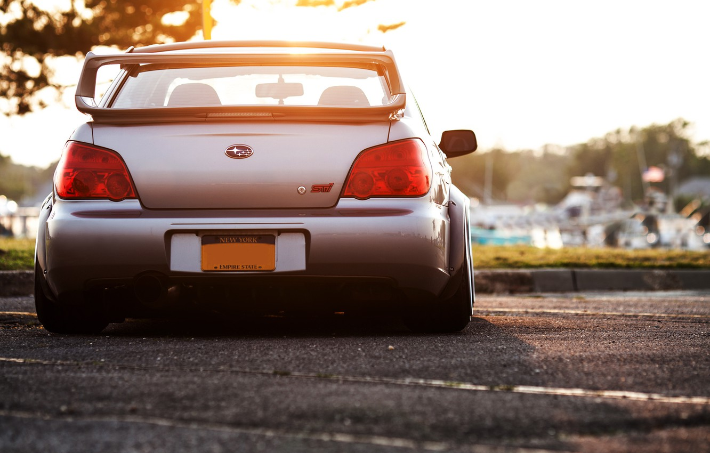 Photo wallpaper glare, Subaru, silver, wrx, impreza, Subaru, sti, Impreza