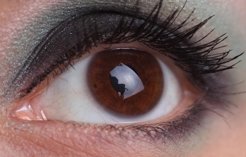Photo wallpaper look, girl, macro, eyes, eyelashes, makeup, the pupil, cosmetics