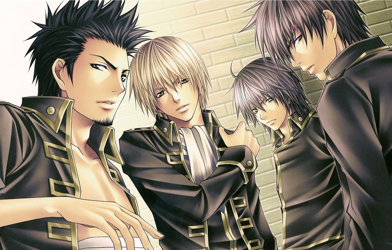 Photo wallpaper men, military uniform, bandages, samurai, Shinsengumi, Gintama, Okita Sougo, Hijikata Toushirou, Isao Koji Kondo, Yamazaki …