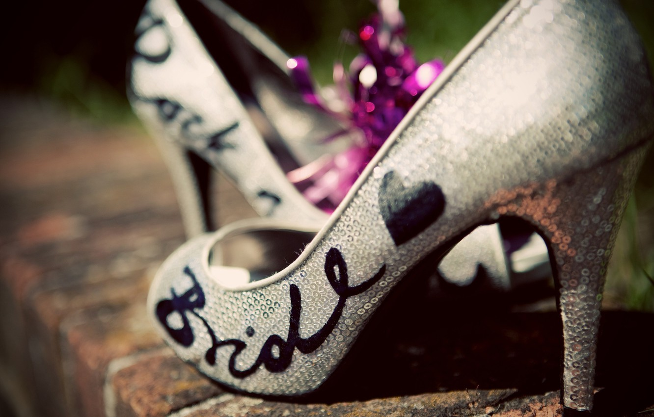Photo wallpaper style, the inscription, shoes, shoes, heel, the bride, fashion, bride, svadebnye, sequins