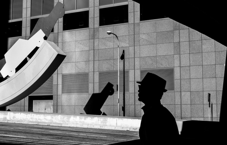 Photo wallpaper Wallpaper, Photo, Silhouette, Man, Lantern, Rinzi Ruiz, Black & White