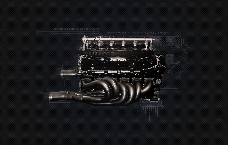 Photo wallpaper Engine, Ferrari, Ferrari F1 Engine, 1995 F1 Engine
